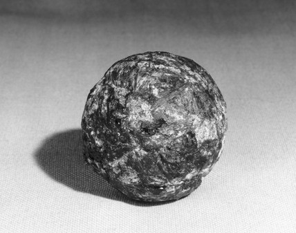 Rubber ball from Peruvian child's grave (re