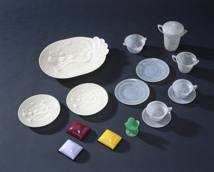 Objects made from polystyrene, 1940-1960.