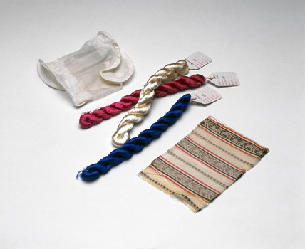 Specimens of  viscose artificial silk (cellulose acetate), 1883-1925.