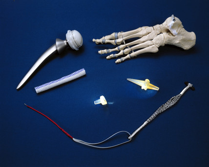 Artificial joints and ligaments and replacement blood vesels, c 1985.