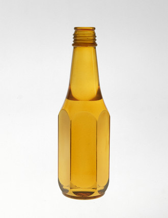 Model bottle in dyed perspex, c 1960s.