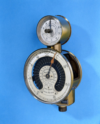Recording speed indicator, 1910.