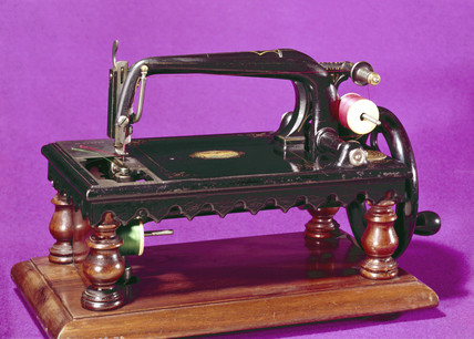 Grover and Baker two-thread chain-stitch sewing machine, 1871.
