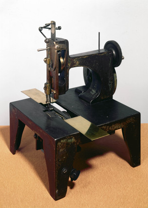 Original Singer sewing machine, 1853.