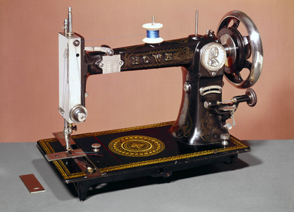 Howe lock-stitch sewing machine, 1883.