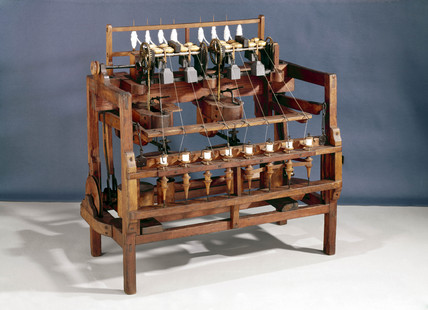 Arkwright's water frame, c 1775.