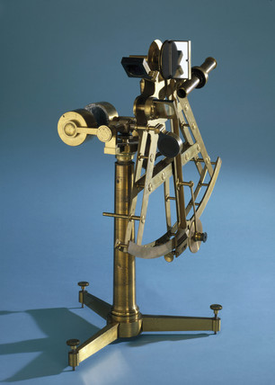 Double A frame sextant with 12 inch radius, 1810-1826.