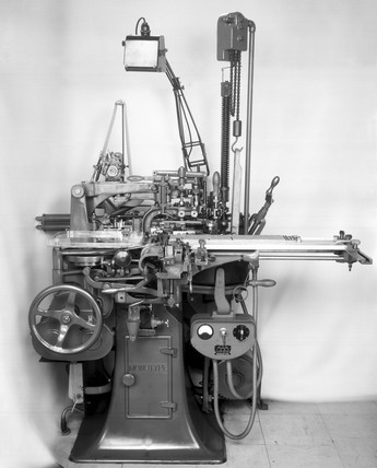 Monotype composition caster used for hot-metal typesetting.