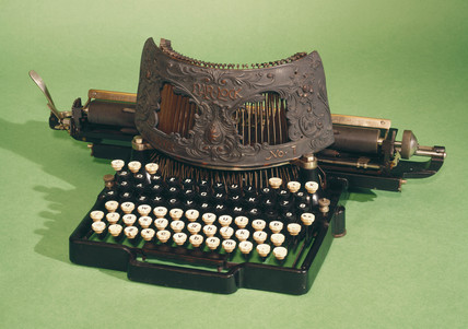 Bar-lock typewriter, 1889.