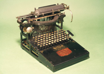 Caligraph typewriter, 1883.