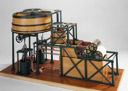 John Dickinson's cylinder paper-making machine, 1809.