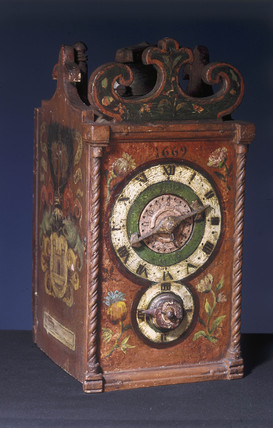 Domestic alarm clock, Swis, 1669.