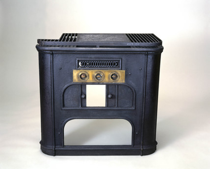 Gas cooker, of Alfred King's design, 1859.