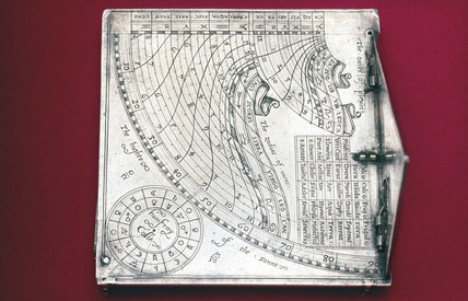Quadrant sundial, English, c 1570.