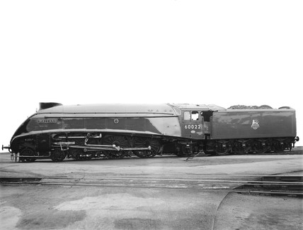 A4 class 'The Mallard' locomotive, Doncaster Works, 28 May 1951.