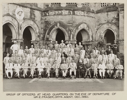 Railway officers, Bombay, India, December 1930.