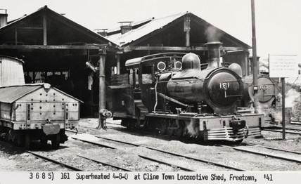 Steam Locomotive At Freetown Sierra Leone 1941 At