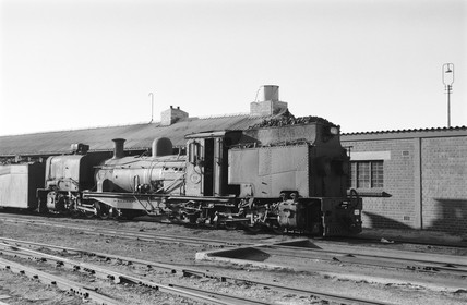 Garratt Locomotive at Humewood Road, South Africa, 1968.