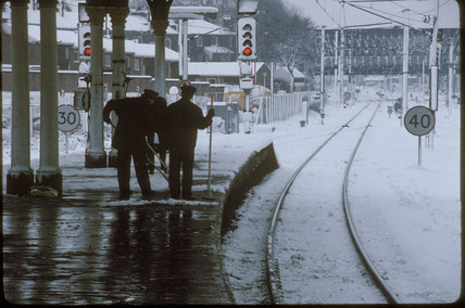 Snow at York Station, 1991.