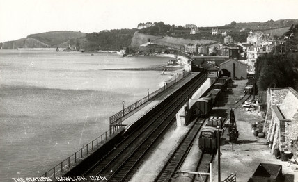 Dawlish Station, Devon, c 1900.