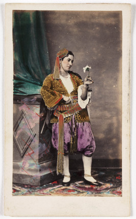 Woman wearing Balkan costume, c 1865.