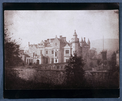 Abbotsford. Salted paper print from a calotype negative by William Henry Fox Talbot (1800-1877).