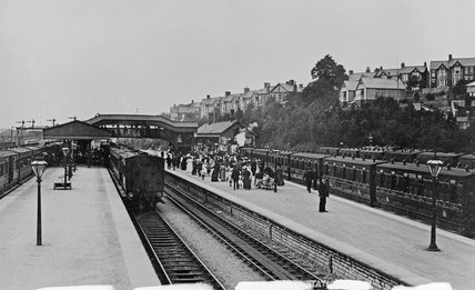 Barry station, Vale of Glamorgan, early 20th century.