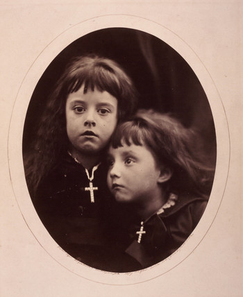 Portrait of 2 girls.