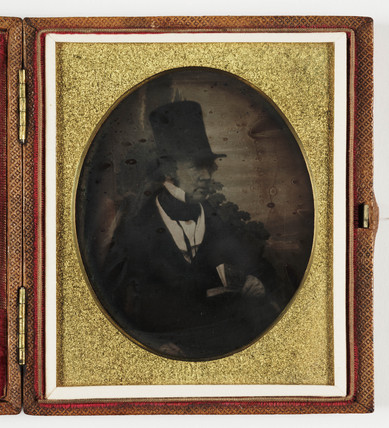 Portrait of William Henry Fox Talbot, photography pioneer, c 1844.