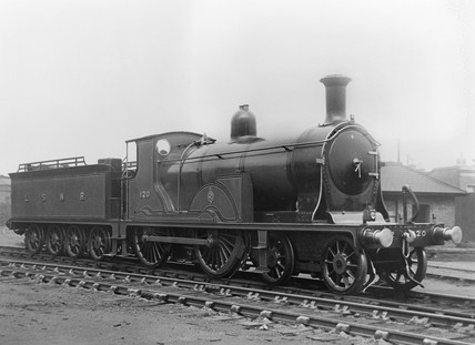 Drummond 4-4-0 locomotive on London South Western Railway.