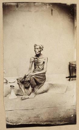 Opium smoker, 19th century.