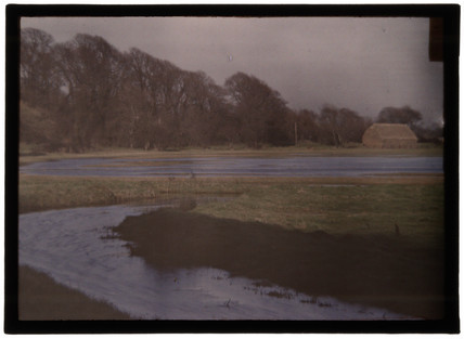 'Flooded Fields, Alfriston, Sussex, River Cuckwell', c 1909.