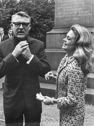 Cary Grant and Dyan Cannon, August 1965.