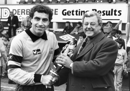 Peter Shilton and Mike Beale, November 1987.