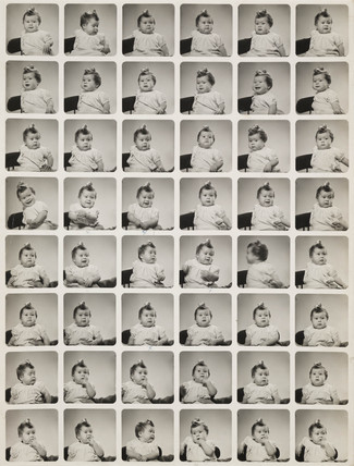 Portraits of a girl, c 1960.