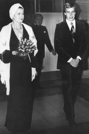Princess Grace and her son, Prince Albert, October 1976.