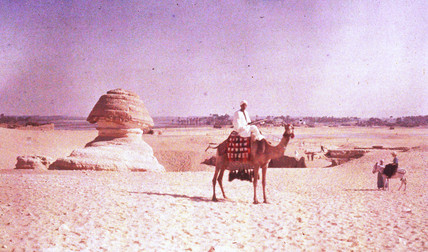 Sphinx and camel, c 1920-1930.