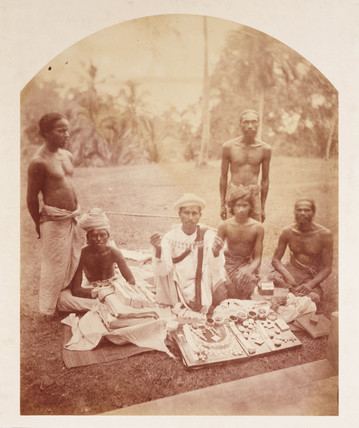 'Group of Pedlars, Ceylon', c 1878.