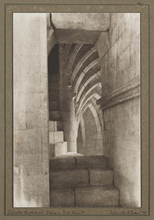 Lincoln Cathedral Stairs in South west Turret, 1898.