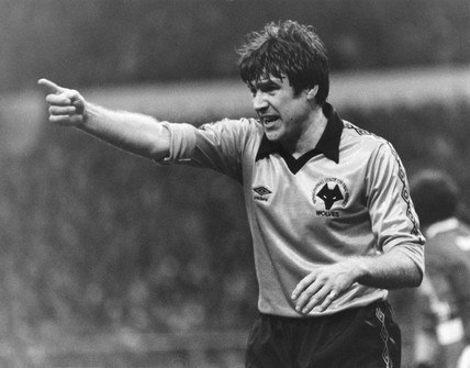 Emlyn Hughes, captain of Wolverhampton Wanderers, 1980.