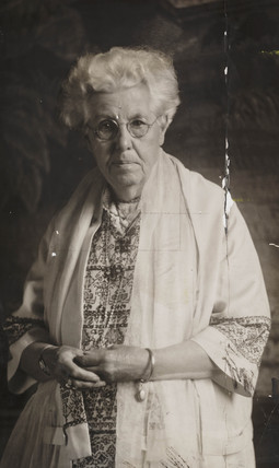 Annie Besant, English social reformer and theosophist, 1927.