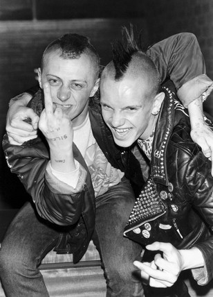 Punks, Preston, Lancashire, May 1982.