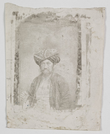 Portrait of a man wearing a turban, c. 1865.