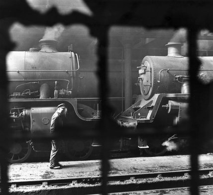 Locomotives in St Margaret's shed, Edinburgh, 13 June 1965.