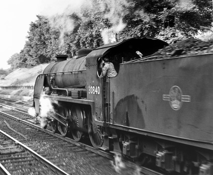 Class S15 H-6-0 No 30840 passes thorugh Clapham Cutting, July 1964.