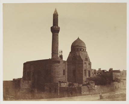 Mosque and minaret, Cairo, c 1849.