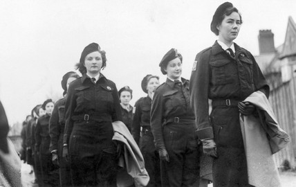 Women Home Guard at Colwyn Bay, Wales, World War Two, December 1944.