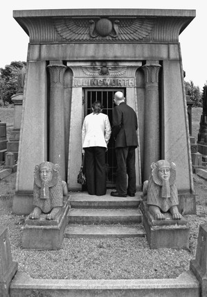 Art Deco Egyptian-style tomb, Undercliffe Cemetery, West Yorkshire, 2005.
