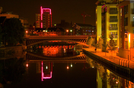 Brewery Wharf at night, Leeds, 2005