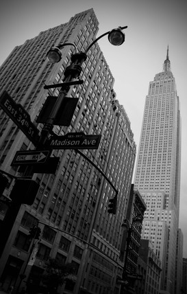 Empire State Building from the corner of 34th & Madison, New York, USA, c 2005.